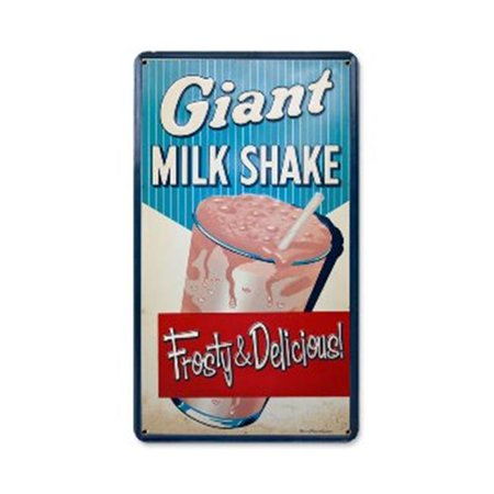 Past Time Signs RPC163 Milk Shake Food And Drink Metal Sign, 8 W X 14 H In. - image 1 de 1