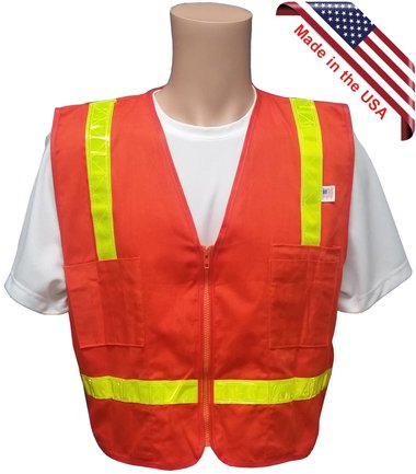 Click here to buy Actual Kids Safety Vests Orange Cotton Material Vests w  Reflective Lime Stripes- Small size, By Texas America Safety....