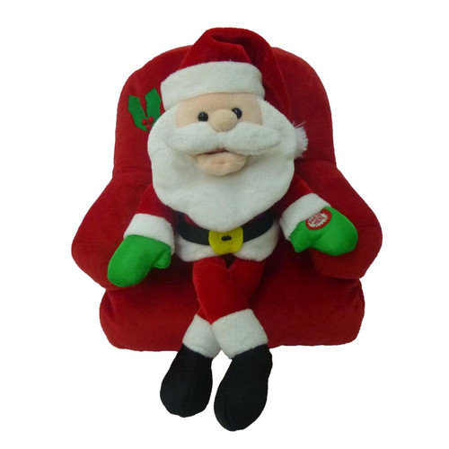 BZB Goods Singing Santa Claus on Sofa Musical Plush Toy with Motion