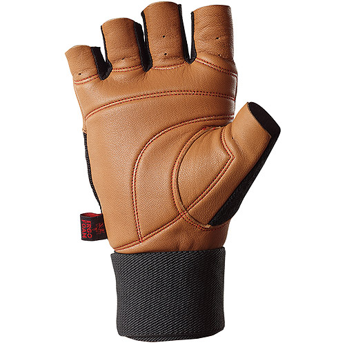 Valeo Ocelot Wrist Wrap Lifting Glove, Tan