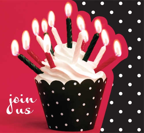 Cupcake Blowout Party Invitations