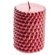 3x4 Pillar Beaded Red Candle