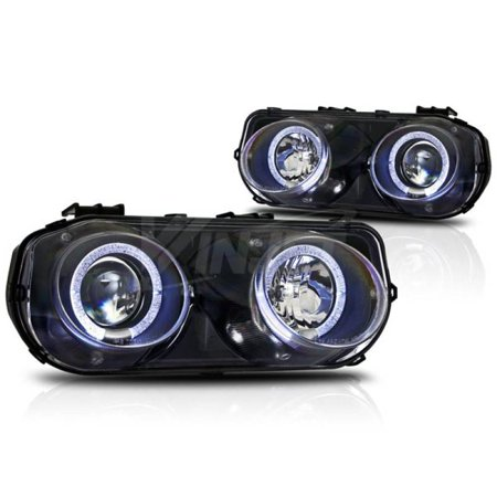 Winjet 1994-1997 Acura Integra Black Clear Halo Projector Head Light WJ10-0216-04 (Acura Integra Halo Headlights)