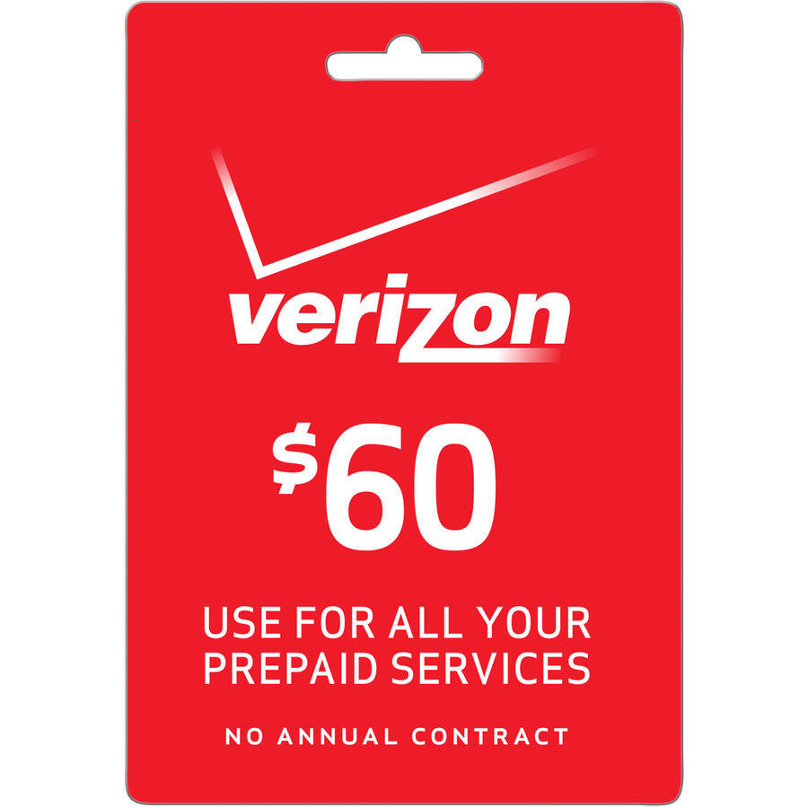 (Email Delivery) Verizon $60 Refill Card