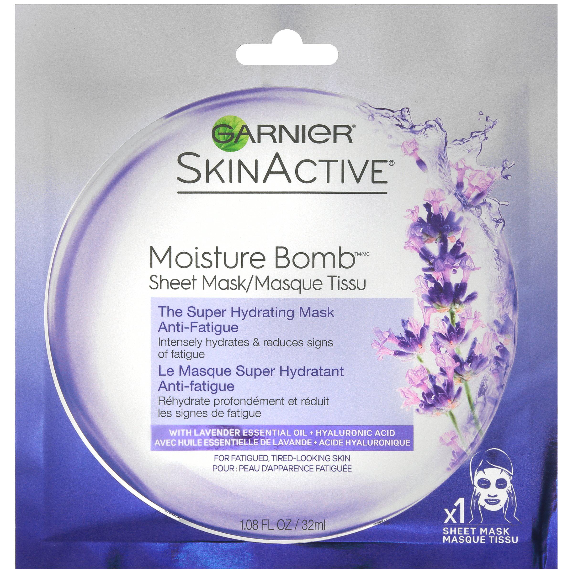Garnier SkinActive Moisture Bomb The Super Hydrating Anti-Fatigue Sheet Mask 1.08 fl. oz. Pack
