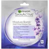 (2 Pack) Garnier SkinActive Moisture Bomb The Super Hydrating Anti-Fatigue Sheet Mask 1.08 fl. oz. Pack