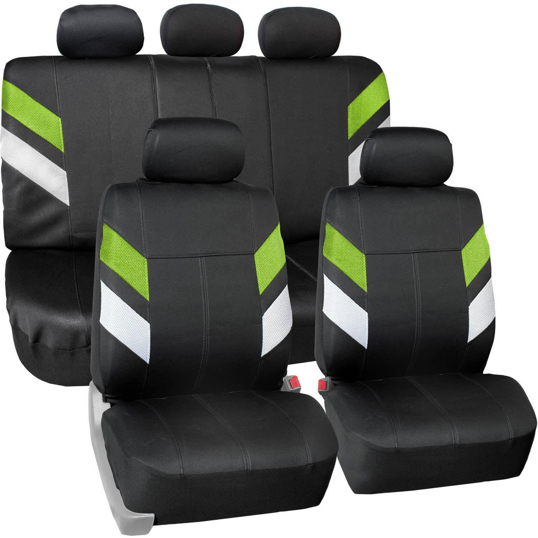 FH Group Modern Edge Waterproof Durable Neoprene Full Set Seat Covers, Green