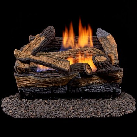 Evening Fyre Ventless Gas Log - Duluth Forge Ventless Dual Fuel Gas Log Set