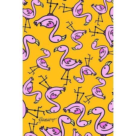 Flamingo Notebook: Orange Fancy Flamingo 6x9 Lined Notebook or Journal (Paperback)](Orange Notebook)