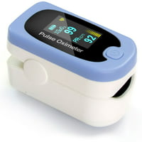 HealthSmart Pulse Oximeter - Displays Blood Oxygen Content, Pulse Rate and Pulse Bar with LED Display and Readout