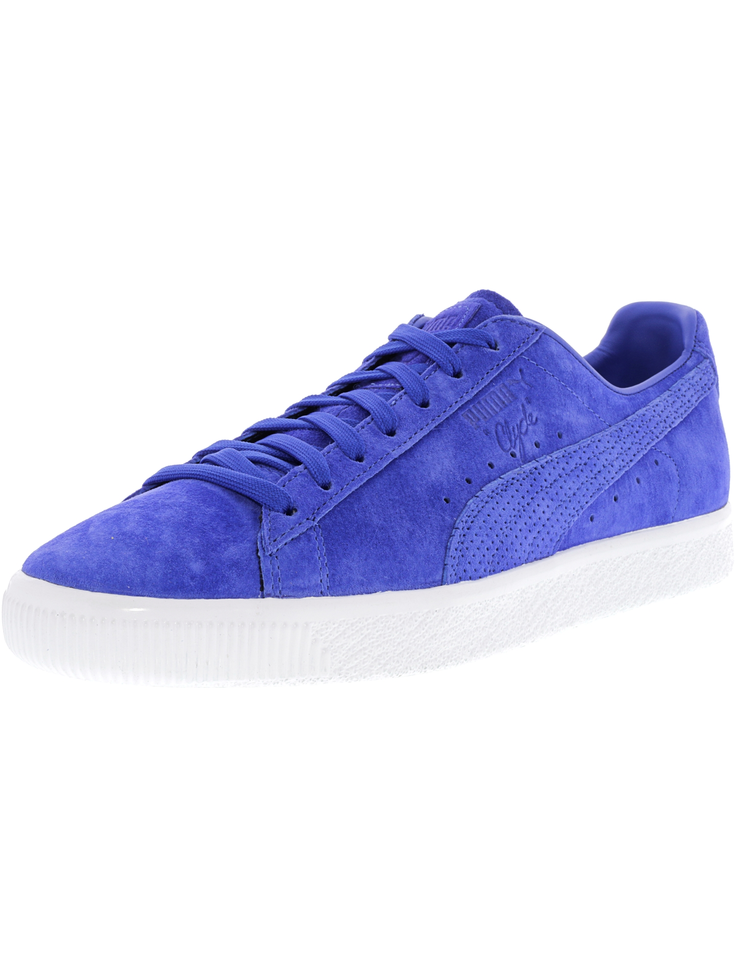 the latest a41ee 9bf41 Puma Men s Clyde Mjrl Fm Dazzling Blue   Ankle-High Suede Fashion Sneaker -  9M