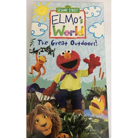 Sesame Street Elmos World The Great Outdoors Vhs Movie Tape VCR