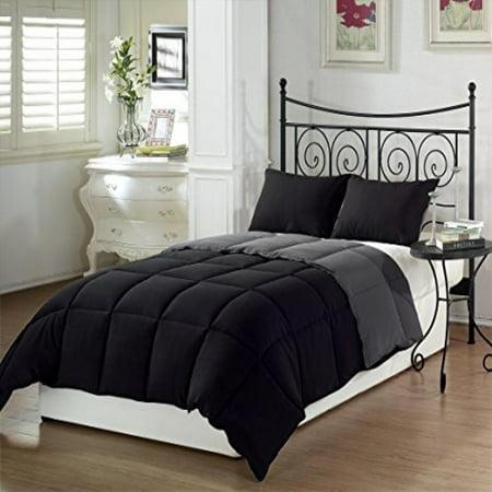 Chezmoi Collection 3-Piece Ultra Soft Down Alternative Comforter Set Light Gray
