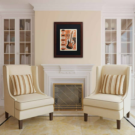 Trademark Fine Art  Cleveland  Canvas Art By Anderson Design Group  Black Matte  Wood Frame
