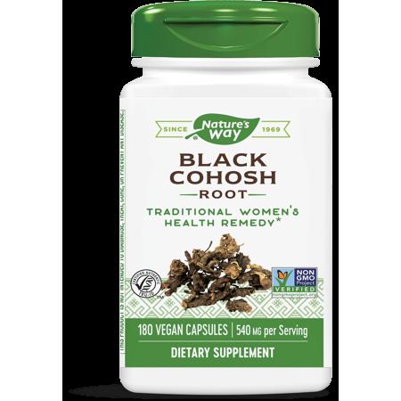 Natures Way Black Cohosh Non-GMO & Gluten-Free 180 Vegetarian (Vital Nutrients Black Cohosh)
