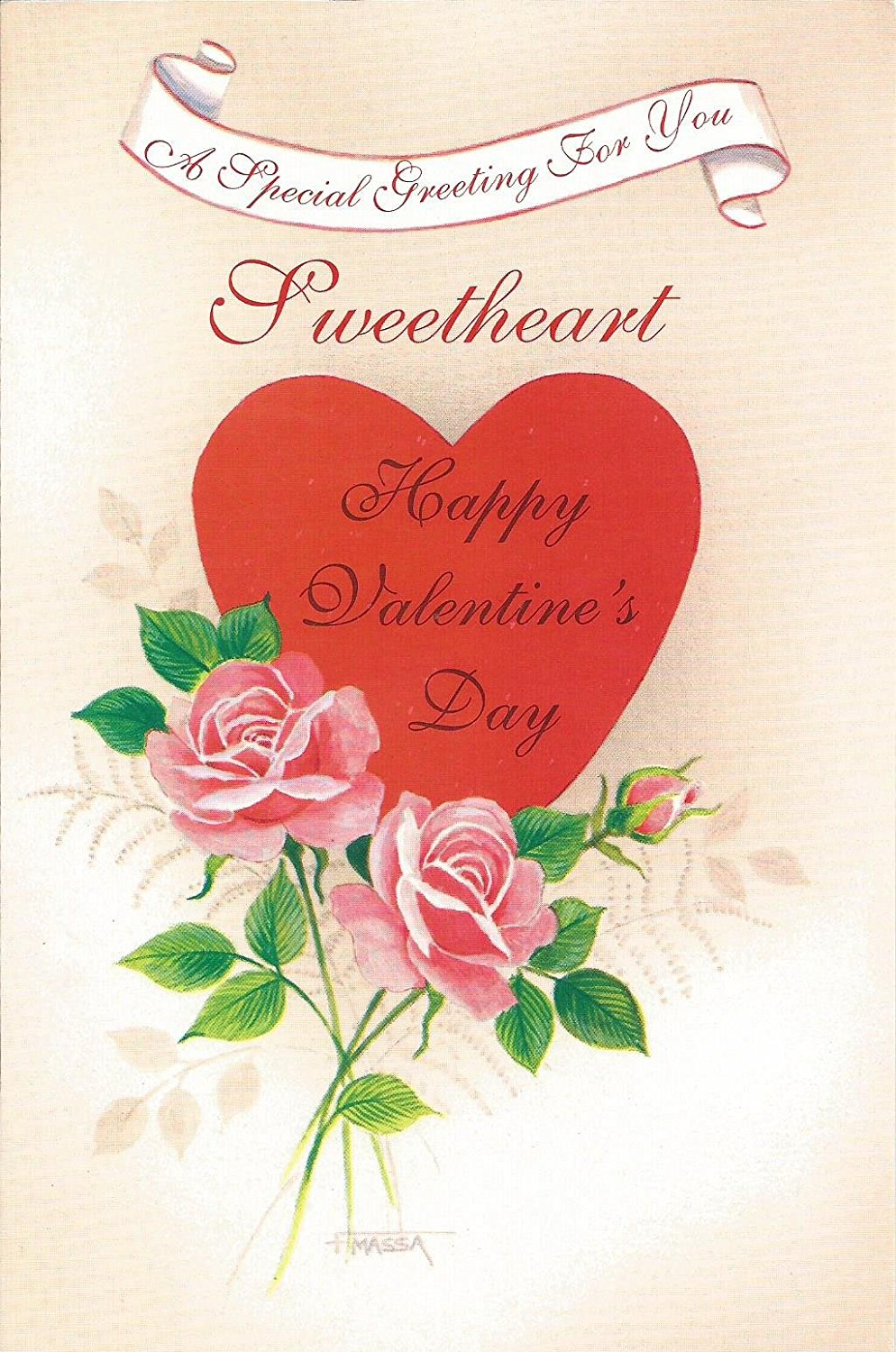 A Special Greeting For You Sweetheart Happy Valentines Day V5