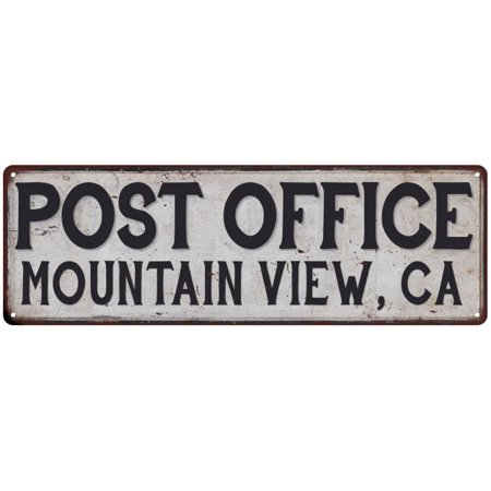 Mountain View, Ca Post Office Personalized Metal Sign Vintage 8x24
