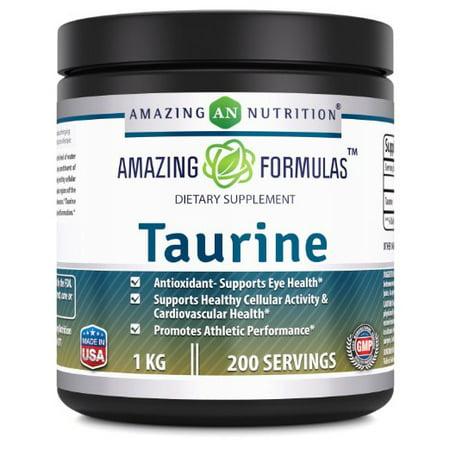 Amazing Formulas Taurine Powder 1 Kg (2.2 Lb) 200 Servings