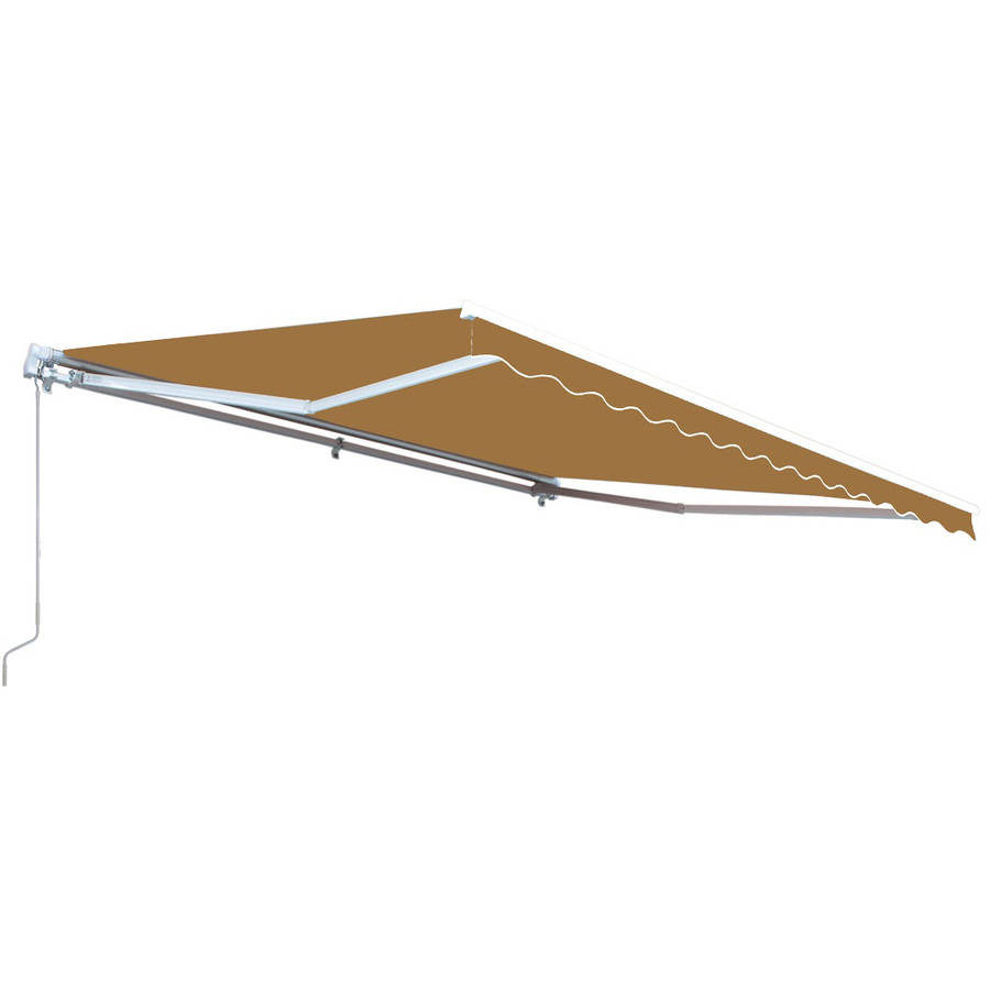 ALEKO Retractable Motorized Patio Awning, 20' x 10', Sand Color