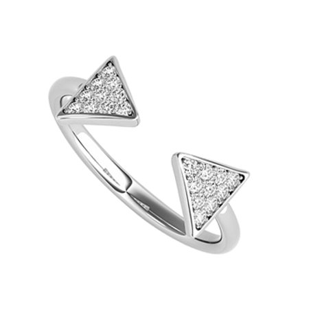 Free Art Style Diamonds Designer Ring in 14K White Gold - image 1 de 2