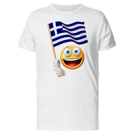 happy emoji with greek flag tee men s image by shutterstock