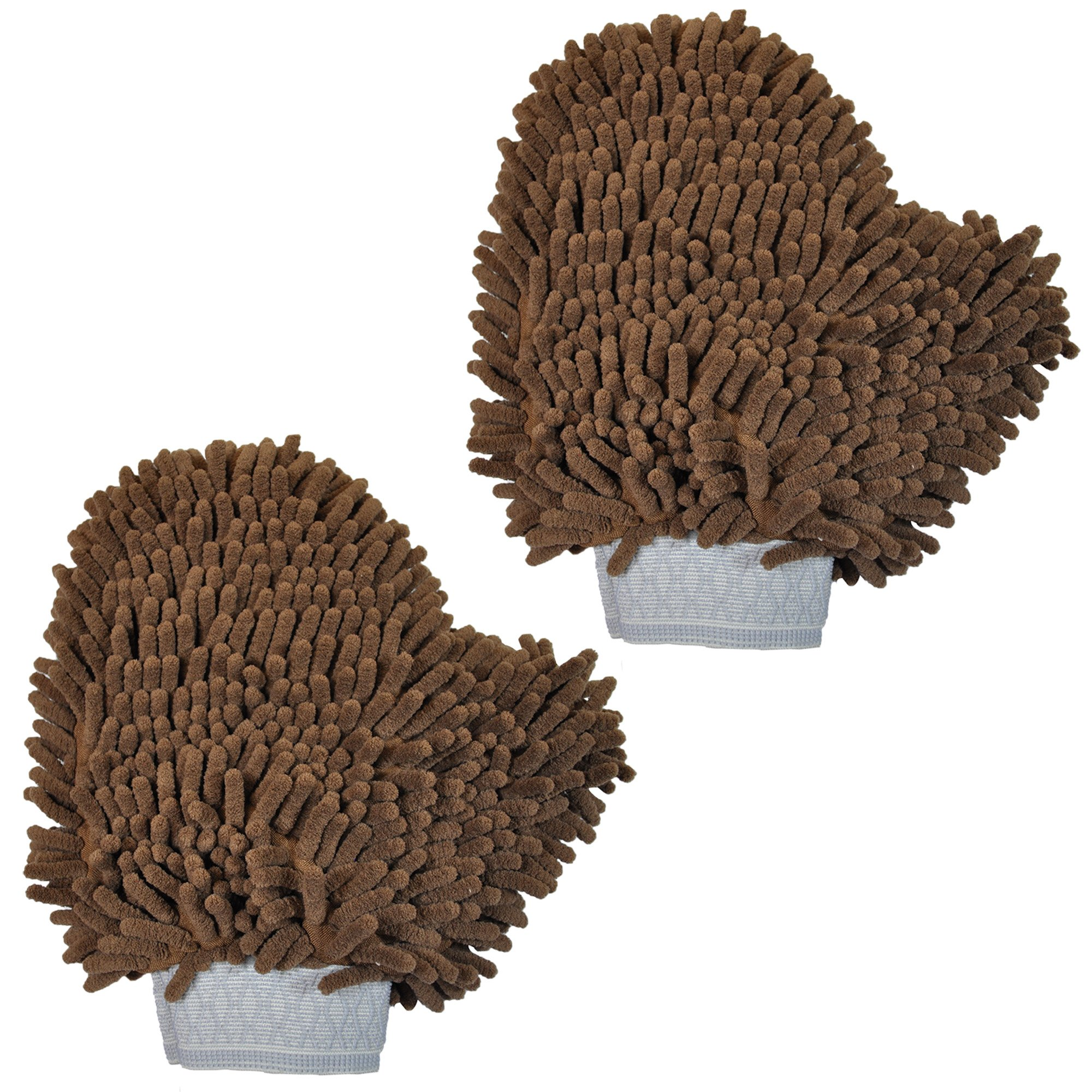 Versatile Microfiber Car Wash Mitt or Dog Bath Glove - Ultra Absorbent and Lint Free