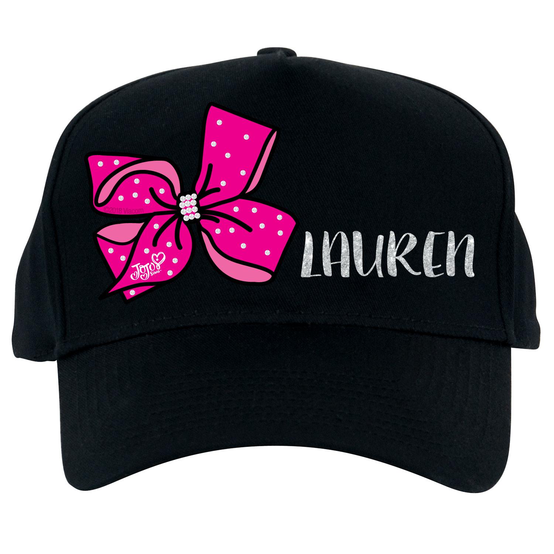 Pink Bow Baseball Hat