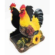 Nice Country Barnyard Rooster Dinner Napkins Holder Figurine Table Centerpieces Sculpture Statue