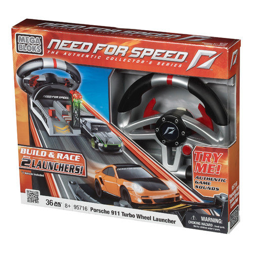 Mega Brands Need for Speed Wheel Launcher Porsche Turbo and Camero SS