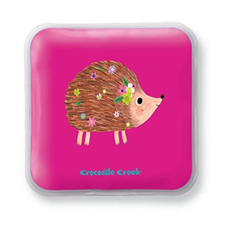 Crocodile Creek Eco Kids Reusable Pink Hedgehog Girls Set of Two Ice Packs for Lunch Boxes, 5