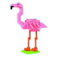 3D Pixel Puzzle - Flamingo (220+ pcs)