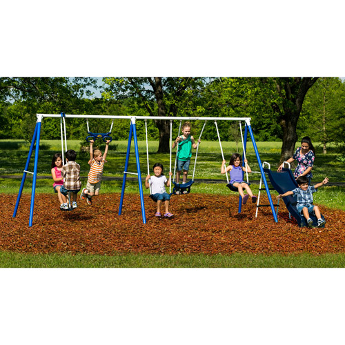 Flexible Flyer Play Around Metal Swing Set Walmart Com