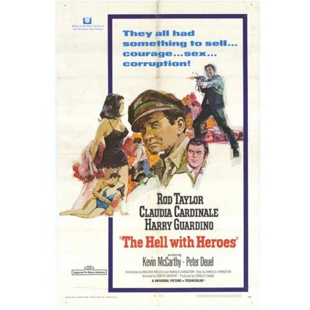 Posterazzi MOVEH4274 The Hell with Heroes Movie Poster - 27 x 40 in. - image 1 of 1