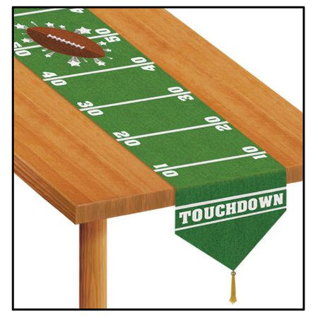 Football Party Table - Printed Game Day Football Table Runner Party Accessory (1 count) (1/Pkg)