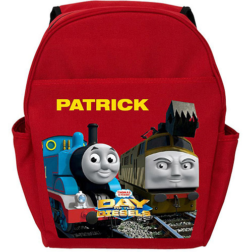 Personalized Thomas Day of the Diesels Red Backpack
