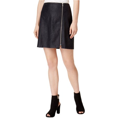 Bar Iii Womens Zip Detail Mini Skirt A-line Back Zip Skirt
