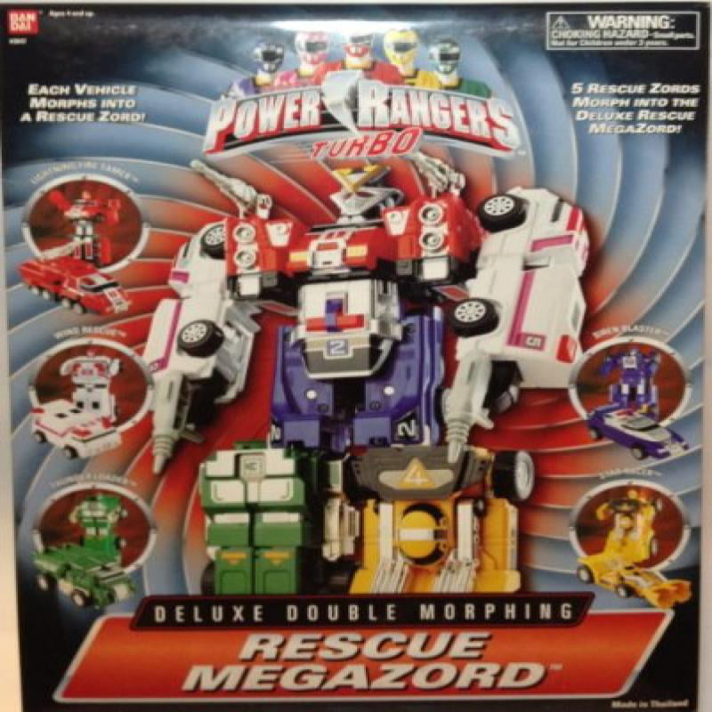 Power Rangers Turbo Rescue Megazord Deluxe Double Morphing Action Figure by