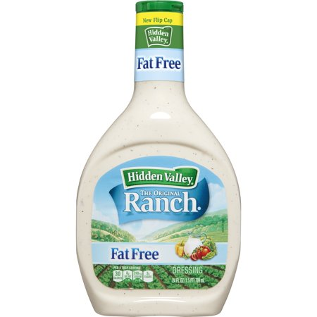 Fat Free Sweet - Hidden Valley Original Ranch Fat Free Salad Dressing & Topping, Gluten Free - 24 oz Bottle