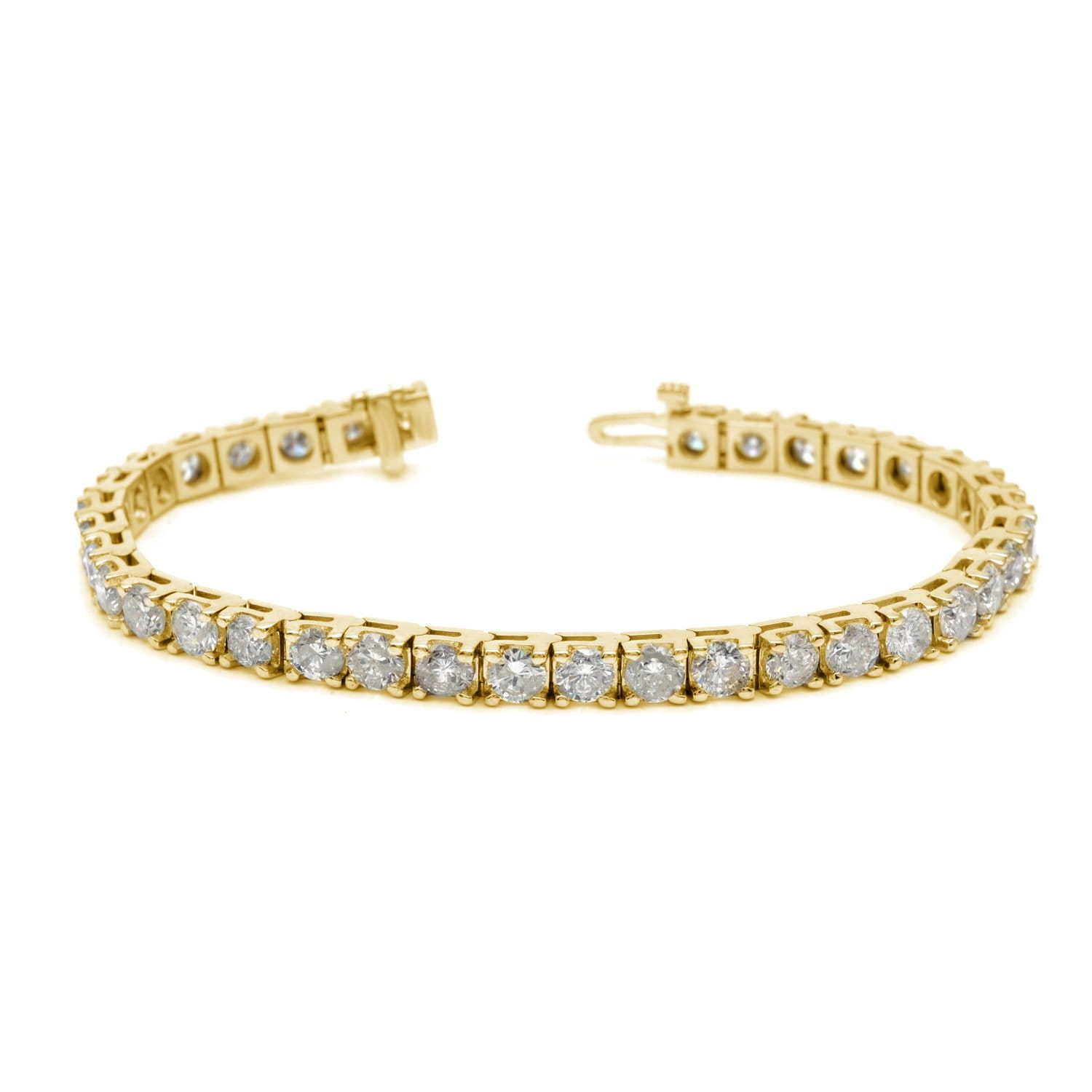 Auriya  14k White or Yellow Gold 12ct TDW Diamond Tennis Bracelet
