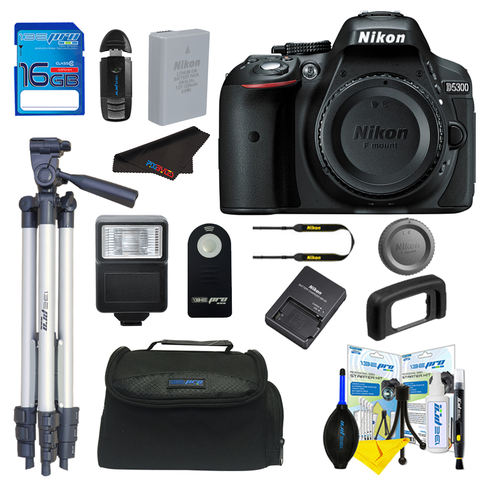 Nikon D5300 DSLR Camera + Pixi Basic Bundle Kit