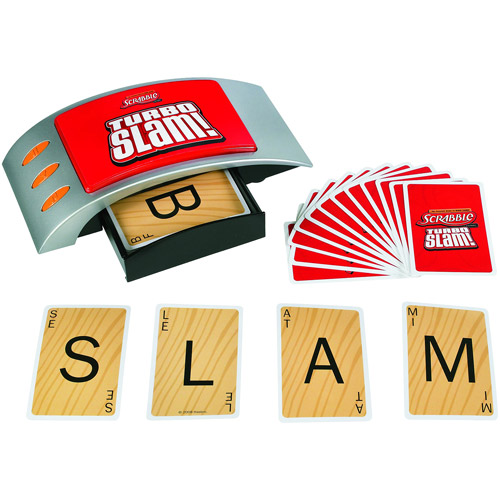 Scrabble Turbo Slam Electronic Card Game with Slam Button & Change Cards