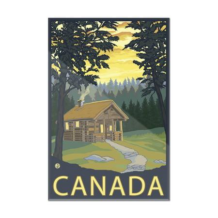 Canada   Cabin Scene   Lantern Press Artwork  8X12 Acrylic Wall Art Gallery Quality