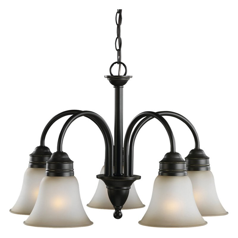 Sea Gull Lighting Gladstone 31851-782 5-Light Chandelier - 23.25 diam. in. - Heirloom Bronze