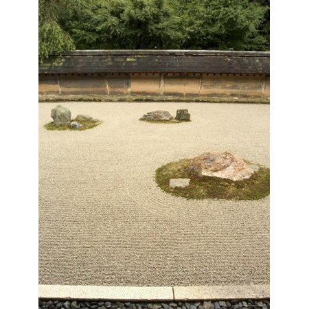 Ryoanji Temple Rock Garden, Ryoan-Ji, Unesco World Heritage Site, Kyoto City, Honshu, Japan Print Wall Art By Christian Kober (Ryoanji Temple)