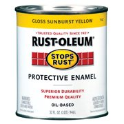 Rust-Oleum Stops Rust Protective Gloss Enamel, Sunburst Yellow, 1 Quart