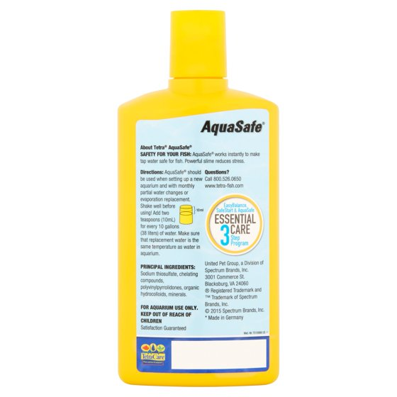 Tetra Aquasafe Water Conditioner For Fresh Salt Water 84 Ounce