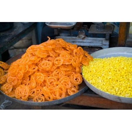 Market Food in Shahpura Rajasthan Near Jodhpur India Canvas Art - Bill Bachmann  DanitaDelimont (37 x 25)