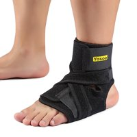 Ankle Support Brace, Fully Adjustable Open Heel, Wrap Around Stabilizer Straps For Maximum Support - Strong Flexible Neoprene for Greatest Comfort