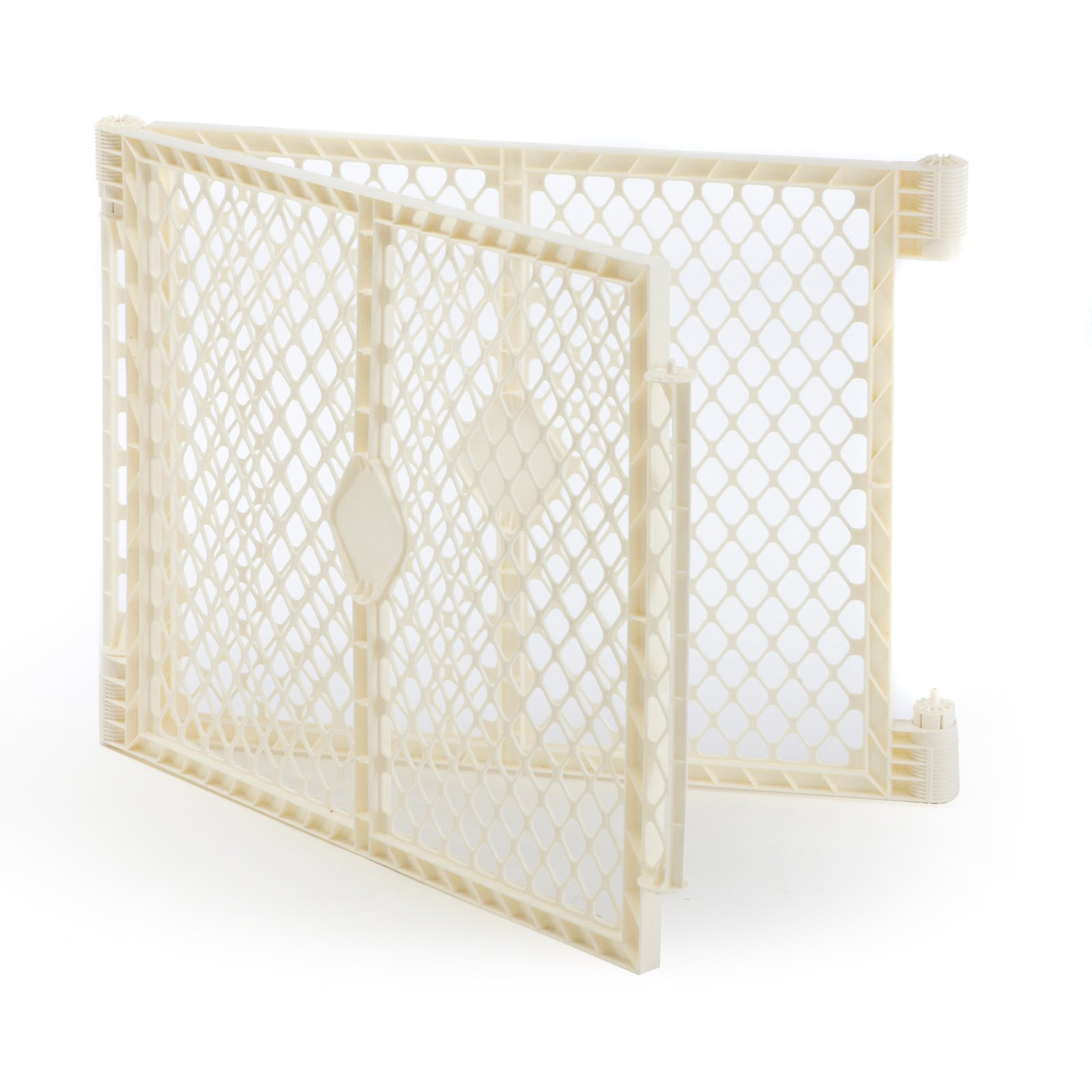 North States Superyard Baby Gate Play Yard Pen 2 Panel Extension Kit Only, Ivory