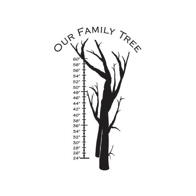 Our Family Tree Vinyl Graphic - Large